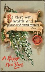 BE BLEST WITH HEALTH AND PEACE AND SWEET CONTENT