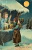 A HAPPY NEW YEAR TO YOU  angel shows Xmas tree to child -in-arms, moonlight