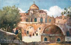 JERUSALEM, CHURCH OF THE HOLY SEPULCHRE (mid-distance view)