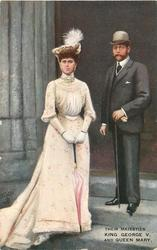 THEIR MAJESTIES KING GEORGE V  AND QUEEN MARY