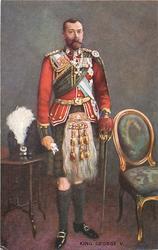 KING GEORGE V  full length in kilt