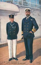 H.M. KING GEORGE V. AND THE PRINCE OF WALES
