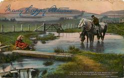 """FOR ME THIS FRESHNESS IN THE MORNING HOURS, FOR ME THE WATER'S CLEAR TRANQUILLITY""  horses"
