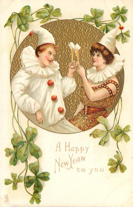 A HAPPY NEW YEAR TO YOU  they toast each other