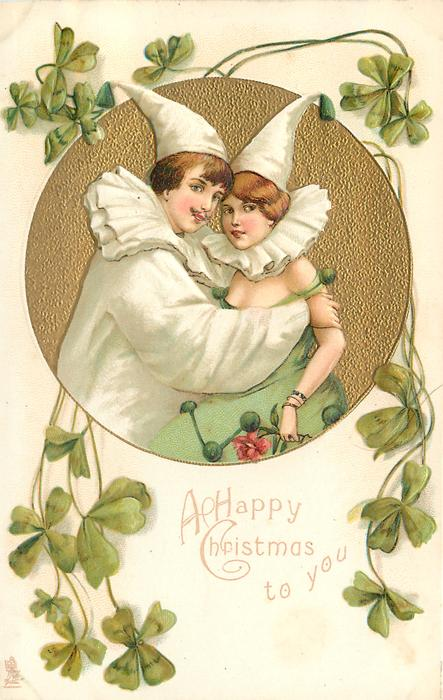 A HAPPY CHRISTMAS TO YOU  they embrace & look front