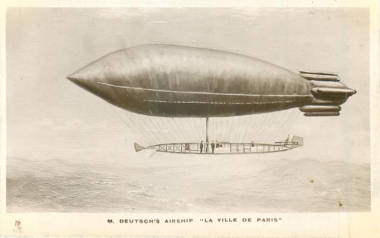 """M. DEUTSCH'S AIRSHIP """"LA VILLE DE PARIS"""""""