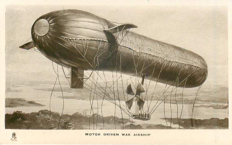 MOTOR DRIVEN WAR AIRSHIP