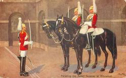 PARADING THE RELIEF SENTRIES AT WHITEHALL
