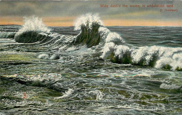 WIDE DASH'D THE WAVES, IN UNDULATION VAST