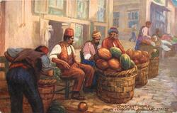 MELON VENDORS IN AMBULANT STREET
