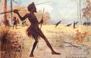 NATIVES HUNTING THE KANGAROO