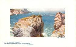 THE ISLAND AND SUSPENSION BRIDGE on back