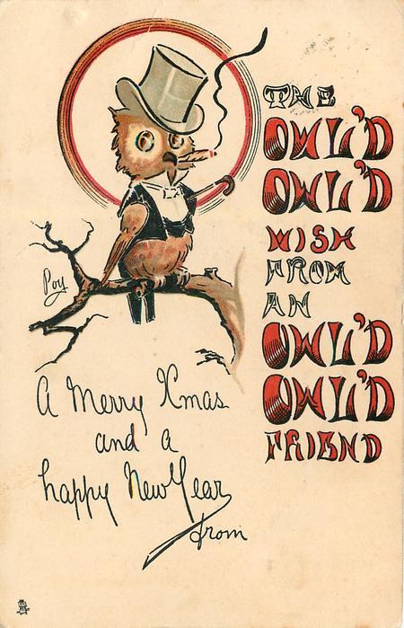 THE OWL'D OWL'D WISH FROM AN OWL'D OWL'D FRIEND
