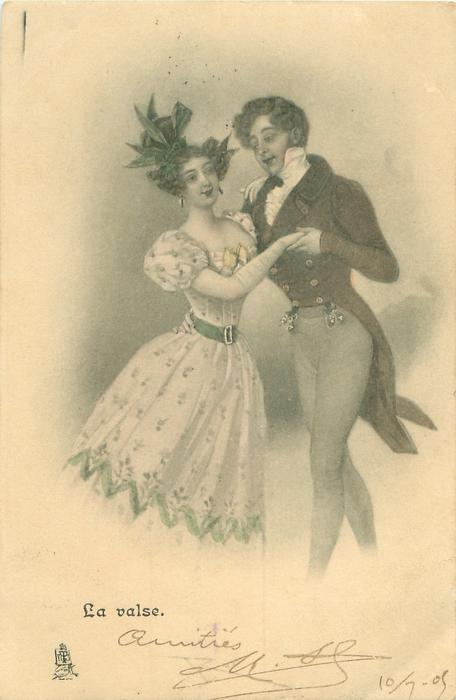 LA VALSE couple waltz
