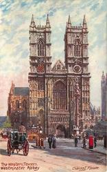 THE WESTERN TOWERS, WESTMINSTER ABBEY