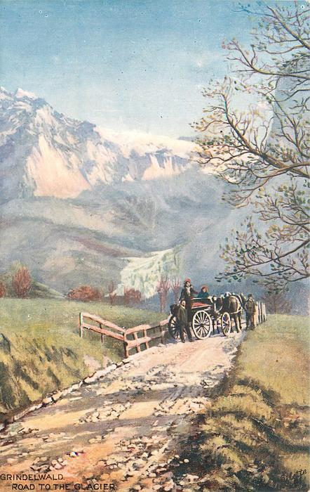 GRINDELWALD, ROAD TO THE GLACIER