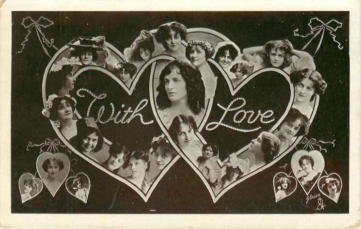 WITH LOVE  actress faces in letters
