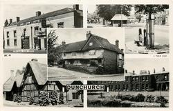5 insets  THE DUN COW HOTEL/THE STOCKS AND THE GREEN/GUY FAWKES HOUSE/THE FORGE/DUNCHURCH HALL SCHOOL