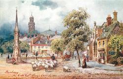BANBURY, THE CROSS & ST. MARY'S CHURCH
