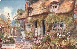 AN OLD COTTAGE, AT BARTON