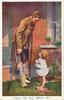 soldier on crutches with little girl