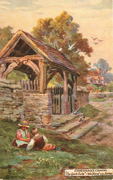 """THE LYCH GATE,"" - WELFORD ON AVON"