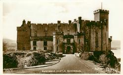 DUNVEGAN CASTLE  road in foreground