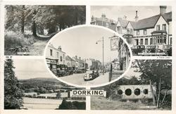 5 insets GLORY WOODS/THE WHITE HORSE HOTEL/HIGH STREET/THE DOWNS/BOXHILL BRIDGE
