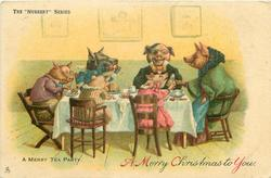 A MERRY TEA PARTY  pigs
