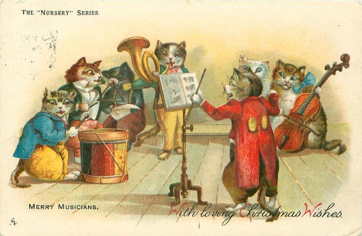 MERRY MUSICIANS  cats