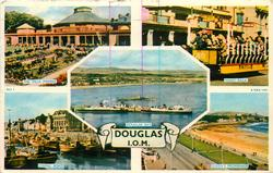 5 insets  THE VILLA MARINA/TOAST RACK/DOUGLAS BAY/FISHING BOATS/QUEEN'S PROMENADE