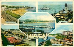 5 insets  QUEEN'S PROMENADE/THE LIGHTHOUSE/THE HARBOUR/THE GARDENS/PORT JACK, ONCHAN