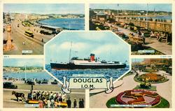 5 insets  THE BAY/THE GARDENS/I.O.M. STEAM PACKET BOAT/TOAST RACK/THE 'LEGS OF MAN' FLOWER BED