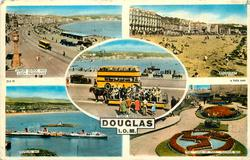 5 insets   JUBILEE CLOCK AND LOCH PROMENADE/BROADWAY/TOAST RACK/DOUGLAS BAY/THE 'LEGS OF MAN' FLOWER BED