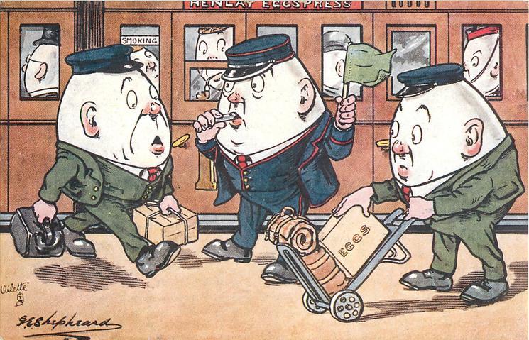 three egg-men on station