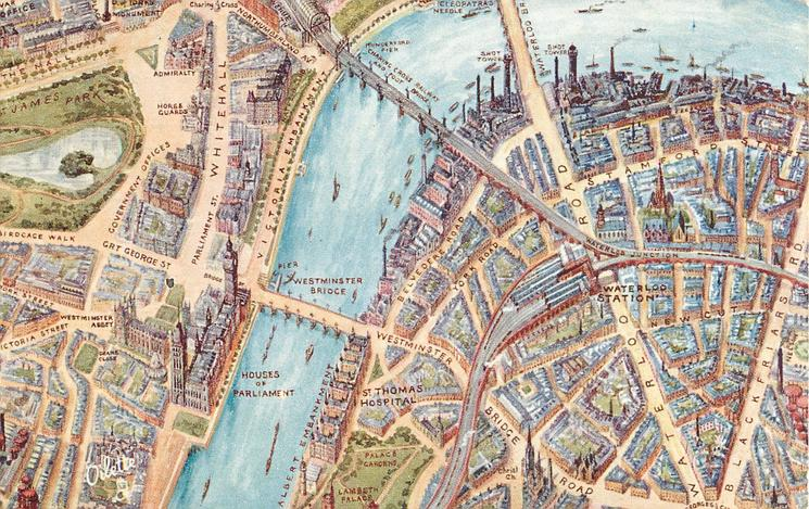 WHITEHALL, WESTMINSTER AND WATERLOO