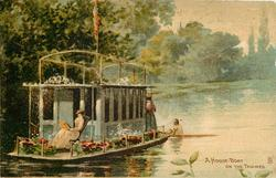 A HOUSE-BOAT ON THE THAMES