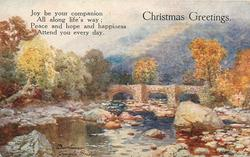 CHRISTMAS GREETINGS  verse, DARTMOOR, FINGLE BRIDGE