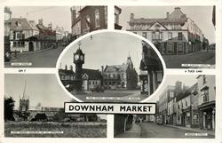 5 insets HIGH STREET/THE CASTLE HOTEL/THE TOWN HALL AND MARKET PLACE/THE PARISH CHURCH OF ST. EDMUND/BRIDGE STREET