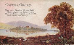 CHRISTMAS GREETINGS  LOCH LEVEN AND CASTLE