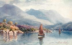 LOCH LOCHY (sailboats on loch)