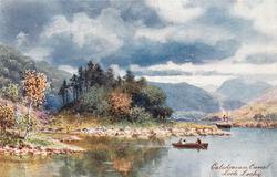 LOCH LOCHY (rowboat and steamer on loch)