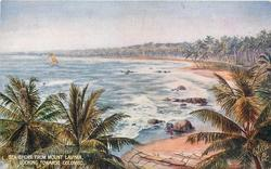 SEA SHORE FROM MOUNT LAVINIA LOOKING TOWARDS COLOMBO