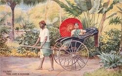 TAMIL LADY IN RICKSHAW