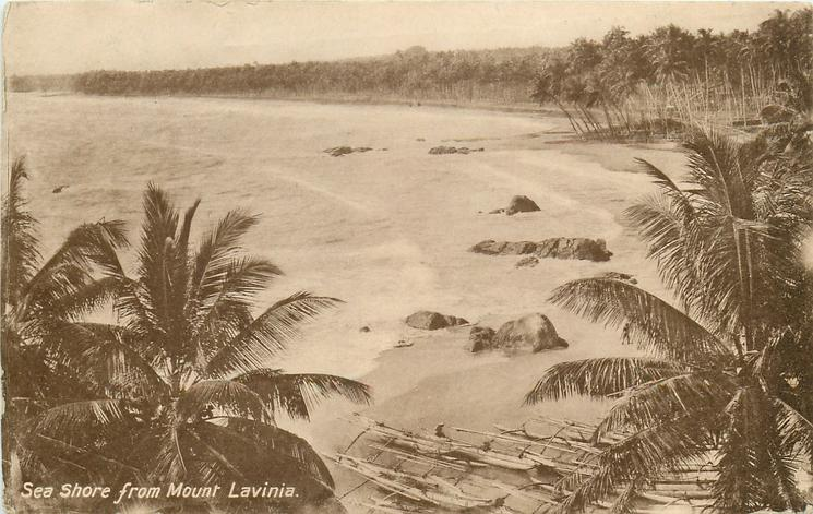 SEA SHORE FROM MOUNT LAVINIA