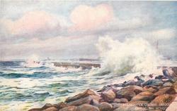 BREAKWATER, COLUMBO HARBOUR DURING S.W. MONSOON