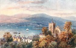 FORT WILLIAM (view of harbour, mountains in background)