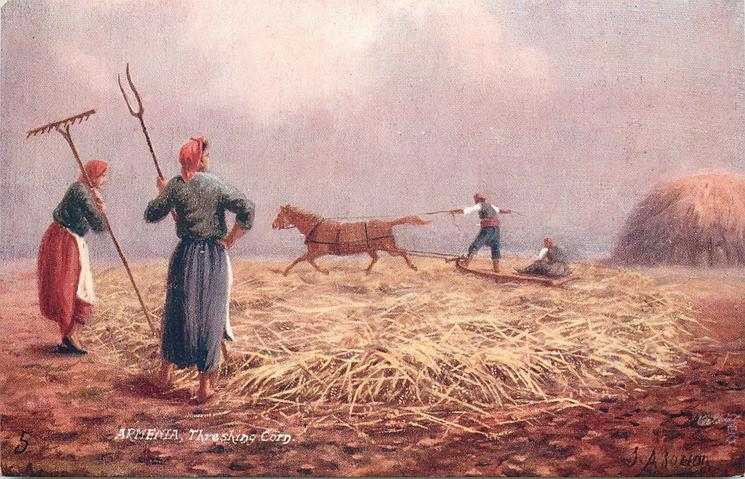 THRESHING CORN