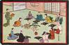 JAPANESE BANQUET IN A TEA ROOM (AFTER THE ORIGINAL JAPANESE DRAWING)