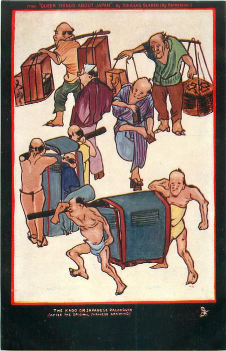 THE KAGO OR JAPANESE PALANQUIN (AFTER THE ORIGINAL JAPANESE DRAWING)